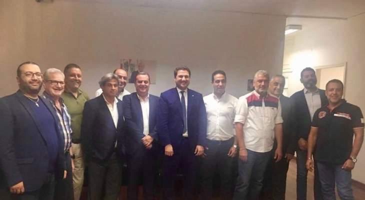 نديم الجميل زار مركز القوات في بيروت