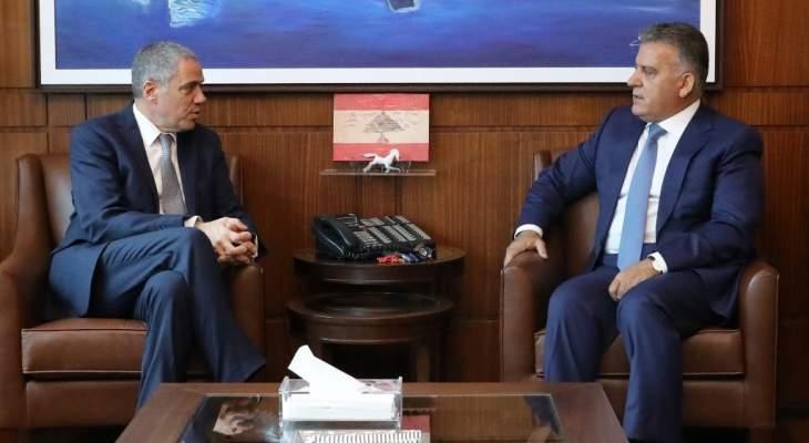 اللواء ابراهيم عرض الأوضاع العامة مع سفير الإتحاد الأوروبي في لبنان
