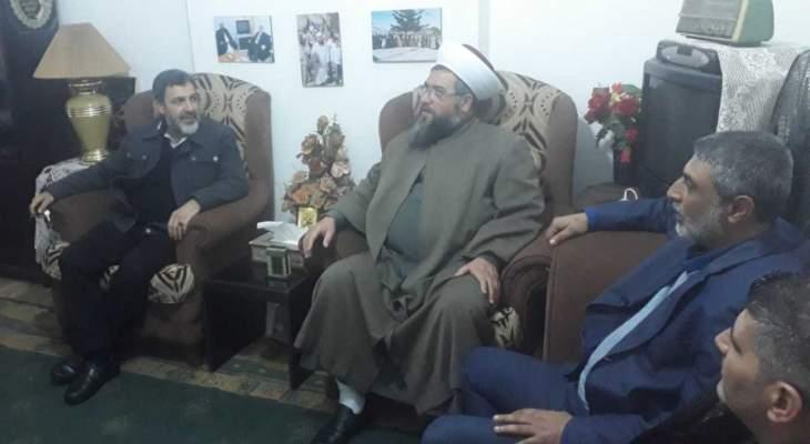 العيلاني التقى وفدا من التوحيد الإسلامي وشارك بذكرى استشهاد معروف سعد