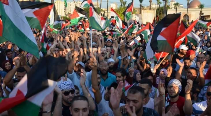 الآلاف شاركوا بالتظاهرة الأضخم في صيدا منذ سنوات مُطالبة بحقوق اللاجئين الفلسطينيين