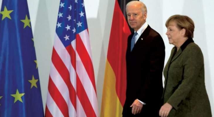 البيت الأبيض: بايدن وميركل أبديا قلقهما من الحشود الروسية على حدود أوكرانيا والقرم