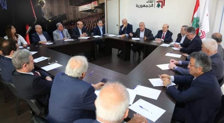 لقاء الجمهورية: لمصارحة اللبنانيين وعدم تجهيل المعرقل