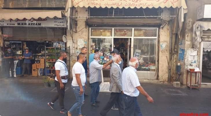 أسامة سعد جال في السوق التجاري بصيدا واطلع على واقع القطاع التجاري