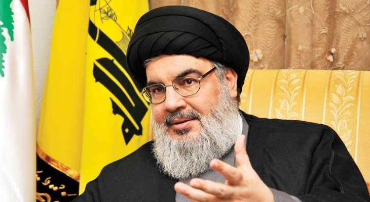 الشرق الاوسط: نصرالله بادر إلى تسويق دعوته بتشكيل حكومة تكنوسياسية من 24 وزيراً
