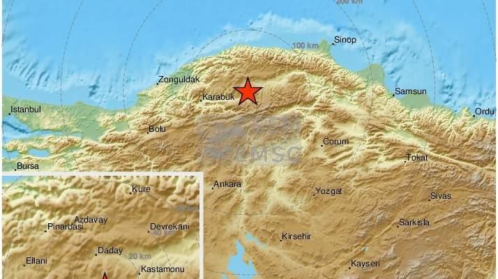 زلزال بقوة 4.5 درجة يضرب شمالي تركيا