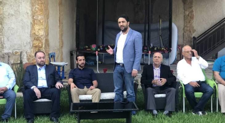 مجيد أرسلان زار شيخ العقل والغريب وجريحي اشكال البساتين