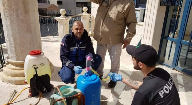 بلدية حارة صيدا تتخذ تدابير وقائية في مواجهة الكورونا