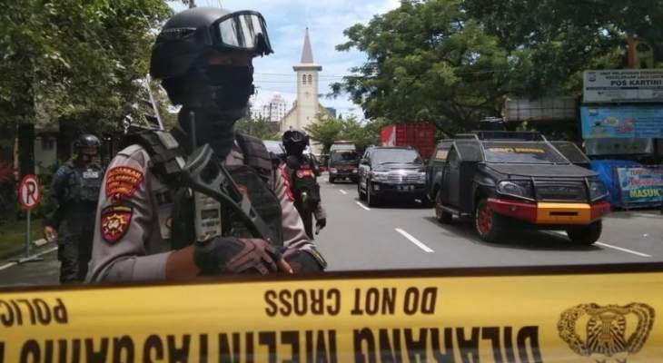الشرطة الإندونيسية: إصابة 14 شخصا بهجوم انتحاري استهدف كاتدرائية شرق البلاد
