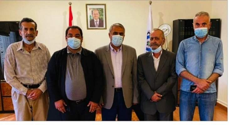 وفد من القومي زار فقيه وبحثا في اجراءات الوقاية لمواجهة الوباء
