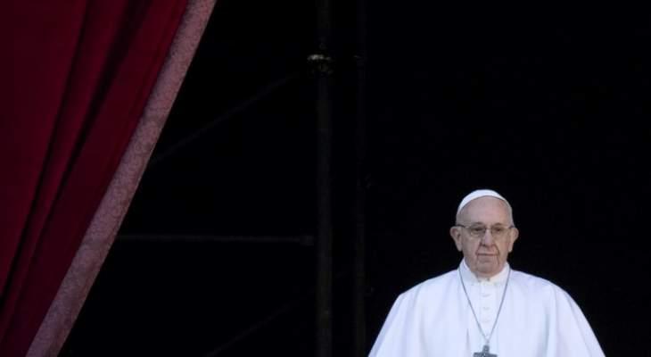 البابا:نفكر باللاجئين في البلاد المجاورة لسوريا خصوصا في لبنان والأردن