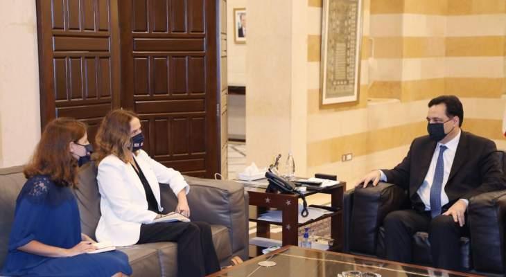 دياب لوفد من السفارة الفرنسية: نسعى لتعزيز علاقات التعاون بين البلدين