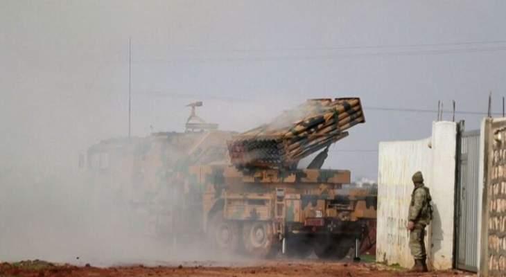 المرصد السوري: القوات التركية والفصائل الموالية لها تواصلان قصفهما الصاروخي على مناطق ريف تل تمر