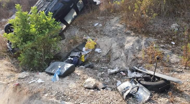 النشرة: جريح في حادث سير مروع على اوتوستراد البيسارية