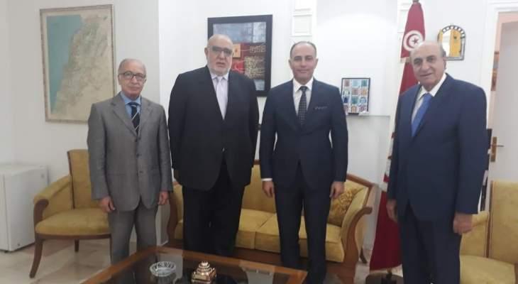 حمدان زار السفير التونسي وشكر له موقفه تجاه فلسطين