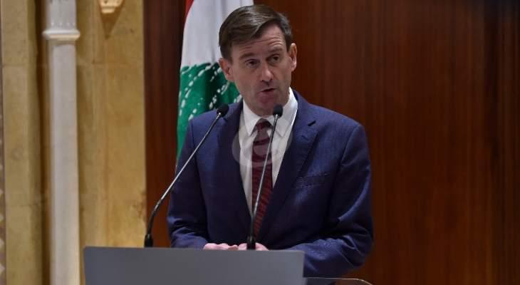 هيل: دعمنا للجيش اللبناني يأتي ضمن استراتيجيتنا لمواجهة إرهاب حزب الله
