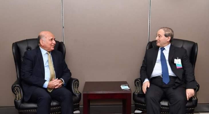 وزير الخارجية العراقي: نعمل من أجل عودة سوريا لشغل مقعدها في الجامعة العربية