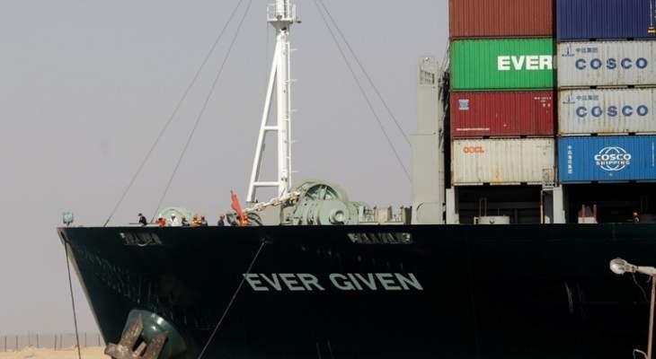 """مسؤولون بقناة السويس: قائد """"إيفر جيفن"""" قام بمناورة خاطئة أدت لانحراف السفينة قبل جنوحها"""