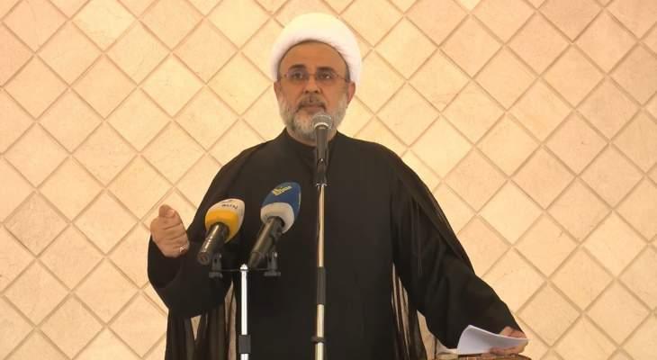 قاووق: حزب الله لن يسمح للإدارة الأميركية أن تحقق مكاسب على حساب المقاومة