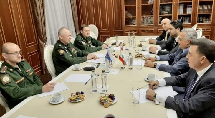 أرسلان عرض مع نائب وزير الدفاع الروسي لأوضاع المنطقة وآخر المستجدات