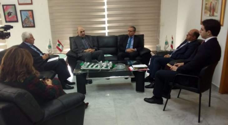 اللقيس: لبنان يعوّل على علاقاته مع مصر التي تشكل سوقاً مميزة للصادرات اللبنانية