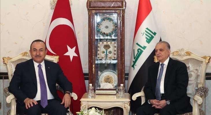 وزيرا خارجية العراق وتركيا ناقشا تطورات الأوضاع بالمناطقة والإجراءات بمواجهة كورونا