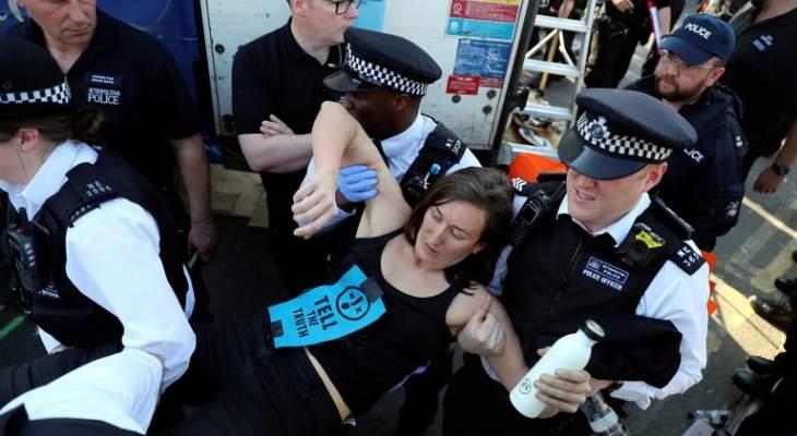 """شرطة بريطانيا:ارتفاع عدد الموقوفين في احتجاجات """"الخضر"""" إلى أكثر من 750"""