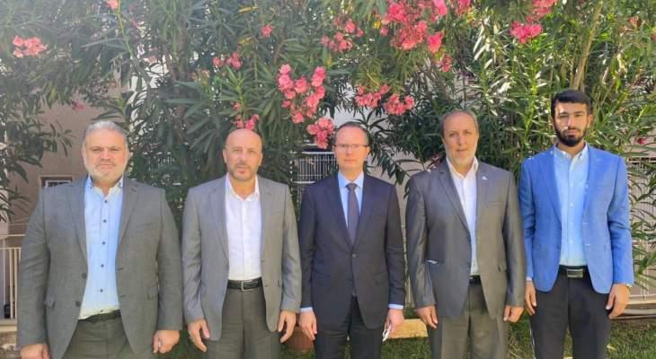 """وفد حماس التقى سفير تركيا بلبنان وبحث معه""""العدوان على الشعب الفلسطيني"""""""