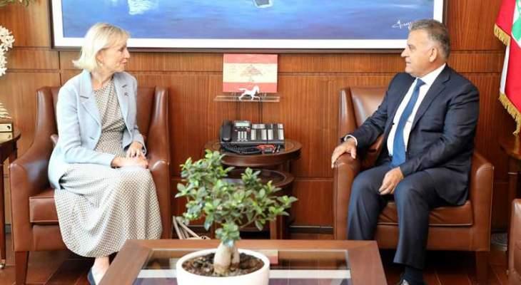اللواء ابراهيم استقبل سفيرة السويد في زيارة تعارفية