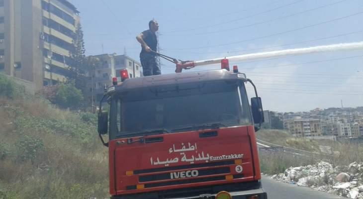وحدة الاستجابة في اتحاد بلديات قضاء صور اطفأت حريقا في بلدة طيرحرفا