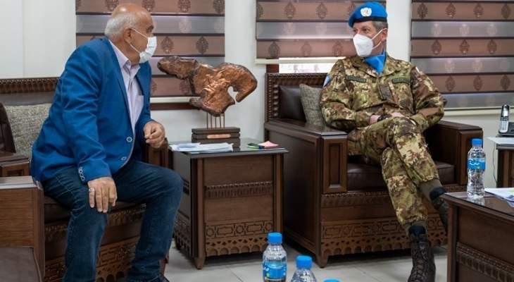 قائد القطاع الغربي لليونيفيل أكد مواصلة دعم الجهود المشتركة لمكافحة جائحة كورونا