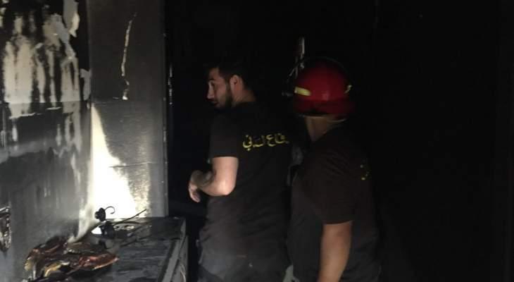 الدفاع المدني أخمد حريقا شب في منزل بقب الياس