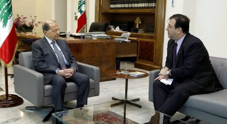 """السفير الفرنسي اكد للرئيس عون موعد مؤتمر """"سيدر"""" في 6 نيسان المقبل"""