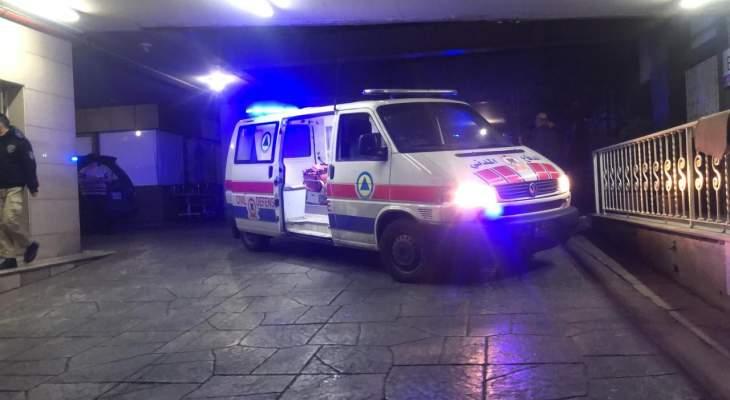 الدفاع المدني: نقل جريحين من عناصر قوى الأمن الداخلي إلى مستشفى حداد لراهبات الوردية