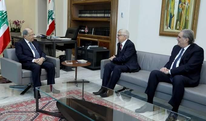 الرئيس عون التقى زاسبكين وعرض معه للأوضاع العامة والعلاقات الثنائية بين البلدين