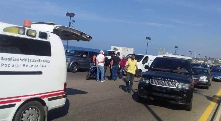 ثلاثة جرحى نتيجة حادثي سير الاول في الرميلة والثاني على كورنيش صيدا البحري