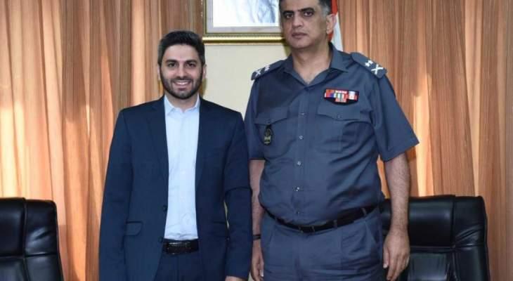 اللواء عثمان استقبل سمير يوسف ورئيسة جمعية حرمون ماراتون