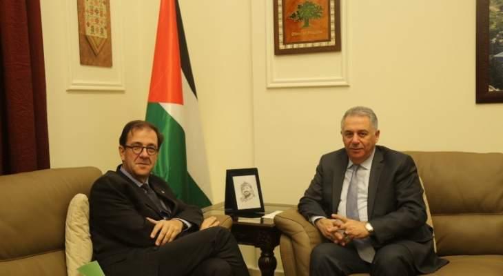 دبور التقى السفير الفرنسي: صفقة القرن تستهدف حقوق الشعب الفلسطيني