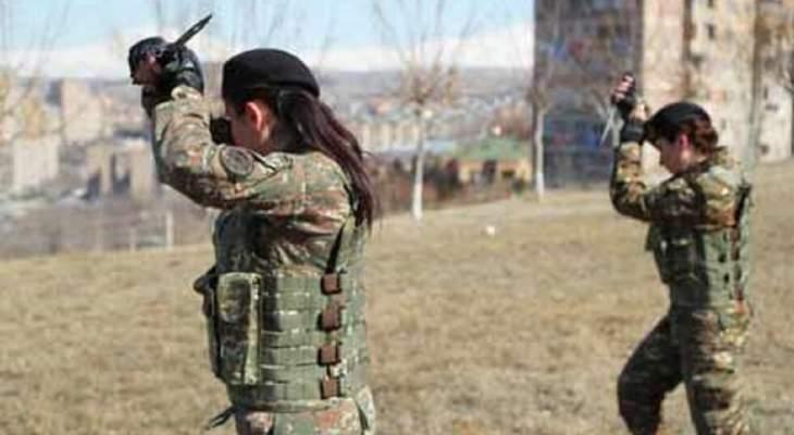 وزارة الدفاع الأرمينية أعلنت تشكيل كتيبة نسائية للقتال في كاراباخ