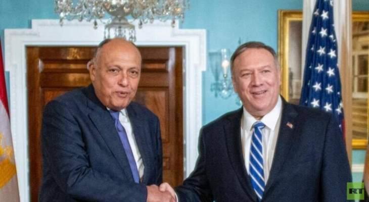 شكري وبومبيو يبحثان أزمة سد النهضة والوضع في المنطقة