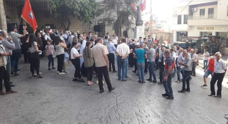 الحزب التقدمي الاشتراكي نظم وقفة تضامنية مع الشعب الفلسطيني في حاصبيا