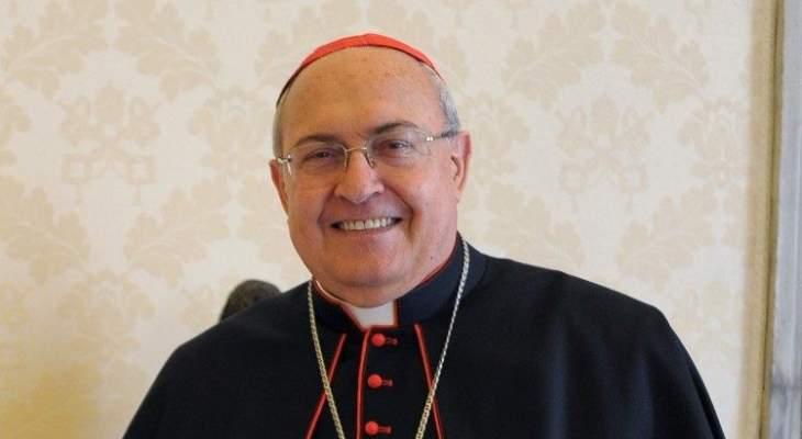 ساندري ممثلا البابا فرنسيس بمراسم جنازة صفير: سيبقى وجها لامعا بتاريخ لبنان