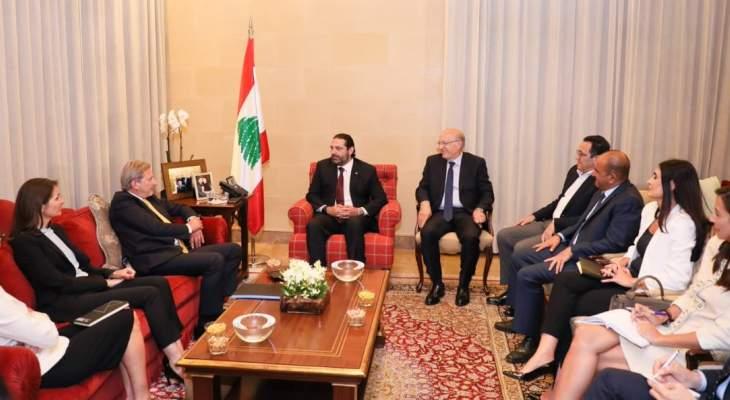 الحريري عرض مع هان للأوضاع بلبنان والمنطقة والعلاقة مع الاتحاد الأوروبي