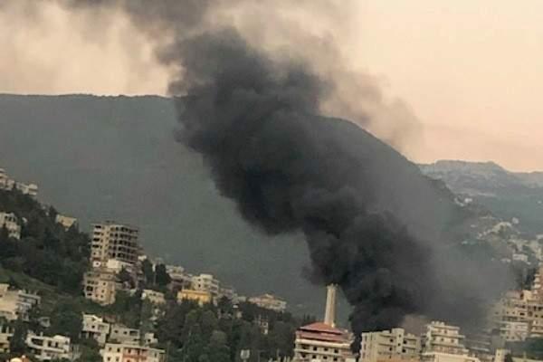 إنفجار خزانات محطة الشحروق للوقود في بخعون بالضنية