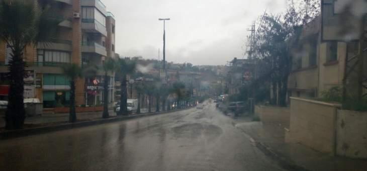 النشرة: تساقط أمطار غزيرة على منطقتي النبطية واقليم التفاح مصحوبة بعواصف رعدية