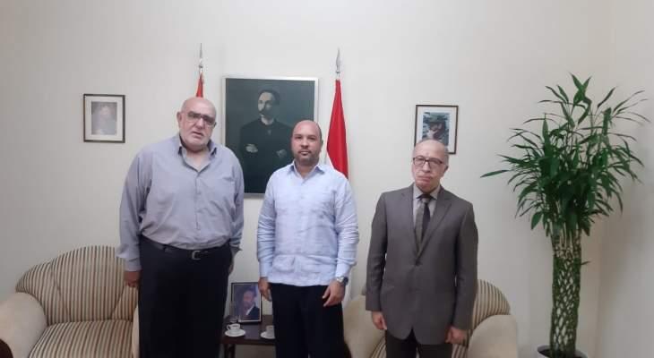 حمدان شدد على دور كوبا في مساندة الدور الكفاحي للشعب الفلسطيني