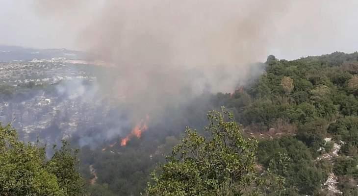 تجدُد الحريق في مزرعة يشوع والدفاع المدني يحاول السيطرة عليه