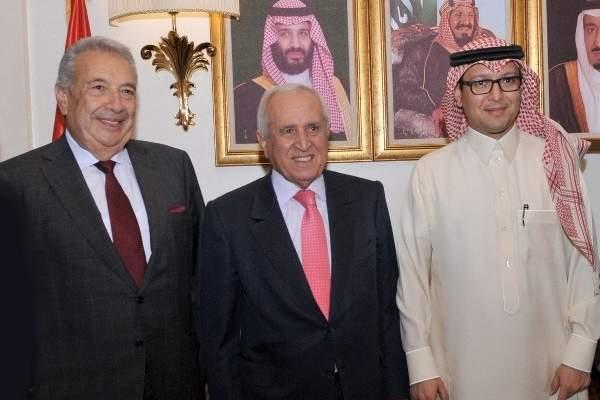 بخاري التقى أبوزكي والخطيب وبحثا بتفعيل مجلس الأعمال اللبناني السعودي