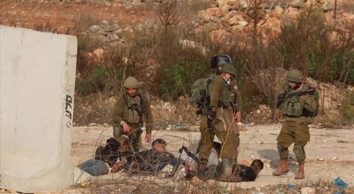 الجيش الإسرائيلي اعتقل 10 شبان فلسطينيين وسط الضفة
