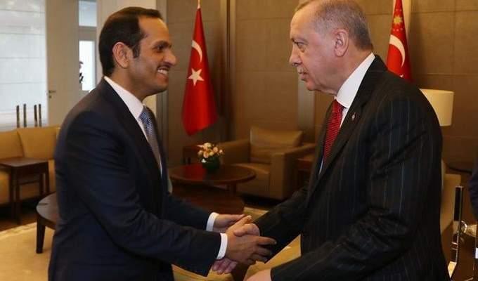 وزير الخارجية القطري: بحثنا مع أردوغان الأوضاع في سوريا والمنطقة
