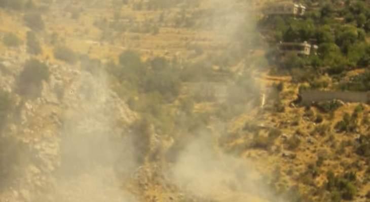 النشرة: العمل على اخماد حريق شب في منطقة النهر خراج بلدة شبعا